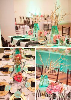 VIRGINIA BEACH WEDDING, Macon Photography, Style by Design, coral mint and gold wedding, www.sbdva.com
