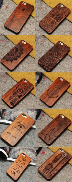 Wood Slim Covering Case for iPhone 6 6 plus Laser Cnc, Laser Cut Wood, Wood Crafts, Diy And Crafts, Laser Cutter Projects, Wooden Phone Case, Electronic Gifts, Mobile Covers, Wooden Art