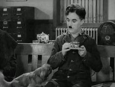 Charlie Chaplin & Peke in Modern Times 1936