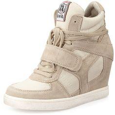 Ash Suede Wedge Sneaker