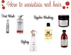 Red hair maintenance
