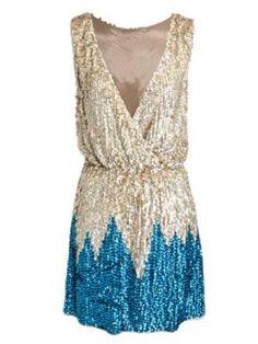 blue bottom sequin