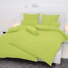 Wir lieben Apfelgrün! Diese schöne Bettwäsche passt perfekt in helle Schlafzimmer und ist weich, bequem und sogar bügelfrei.