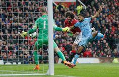 Fellaini scores. Manchester United v Manchester City