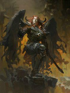 Artist: Ruan Jia aka ruanjiajia - Title: Unknown - Card: Primeval Dark Demogorgon (Overlord)