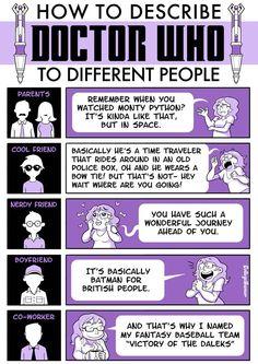 Hoe leg je Doctor Who uit aan verschillende soorten mensen?