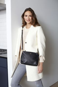 Lo & Sons - The Pearl - Leather Crossbody Bag...now here is a purse I think I could actually become accustomed to using every day!