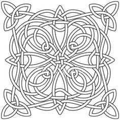 Complex Celtic knot, as a black outline, ready for you to fill in color as you wish. Alternate AI file included, and high resolution JPEG and transparent PNG. Celtic Quilt, Celtic Symbols, Celtic Art, Celtic Knots, Celtic Mandala, Celtic Dragon, Printable Adult Coloring Pages, Coloring Book Pages, Celtic Border