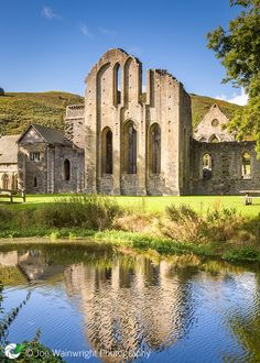 Valle Crucis Abbey ~ Denbighshire, North Wales, was founded in 1201. Pictured also is the only surviving example of a monastic fishpond in Wales.