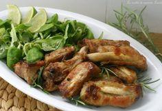 COSTINE DI MAIALE IN PADELLA (ricetta secondo carne) Carne, Mozzarella, Chicken Wings, Turkey, Meat, Pork, Turkey Country, Buffalo Wings