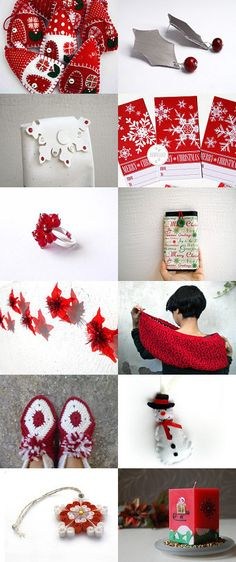 Christmas white and red by Conny Massa on Etsy--Pinned with TreasuryPin.com