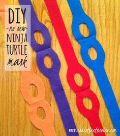DIY No-Sew Ninja Turtle Mask (with FREE printable pattern)