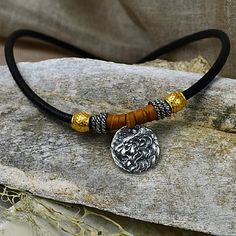 Lion pendants, leather cords, and sterling silver spacers are all available at Nina Designs® Designs for men