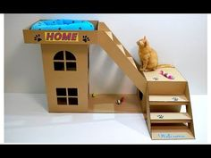 DIY Cat Toilet | Craft Ideas for Kids on Box Yourself - YouTube