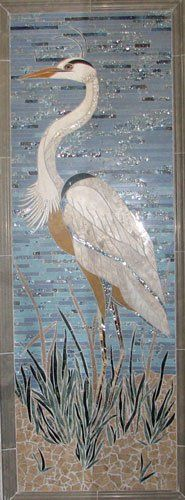 The Great Blue Heron from Art Mosaics of the Carolinas