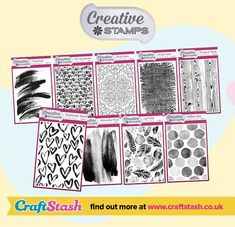 WIN A SET OF CREATIVE STAMPS BACKGROUND STAMPS with @craftstashcouk