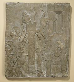 Guerreiros assírios invadindo uma cidade (Campanhas de Tiglath-Pileser III)