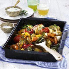 Geschmortes Gemüse vom Blech Rezept