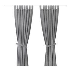 IKEA - LENDA, Cortinado c/braçadeira, 1 par, , Os cortinados deixam passar a luz, mas reduzem a entrada de luz solar direta.As alças permitem-lhe pendurar os cortinados diretamente num varão.