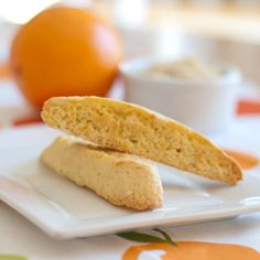 Orange Almond Biscotti - A delicious biscotti flavored with orange and almond.  This is a recipe we brought home from our honeymoon in Italy