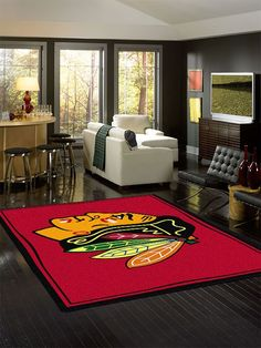 Chicago Blackhawks NHL Team Spirit Rug