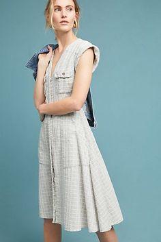Windowpane Utility Shirtdress Casual Dresses f95130ac7a57