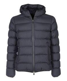 Herno Men'S Black Polyester Down Jacket