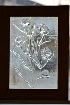 Fused Glass Panel  with Wildflowers Design by StudioGlassCompany, $60.00