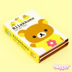 Rilakkuma Note Sticker Set - Yellow - Notebooks & Pads - Stationery | Blippo.com - Japan & Kawaii Shop
