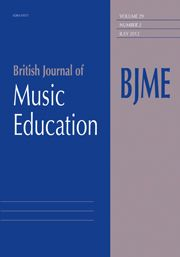 Power, A. and Horsley, M. (2010) Pathways from global education understandings to teaching music. British Journal of Music Education, 27: 141-150.