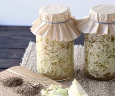 Homemade Sauerkraut flavored with garlic and cumin.  Great for improving gut health by increasing good bacterial flora.
