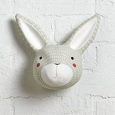 Sale ends soon. Spruce up your walls our Forest Pop Wall Decor Bunny. This bunny faux taxidermy wall decor is hand-painted making it a one-of-a-kind piece of art. Kids Wall Decor, Art Wall Kids, Paper Mache Deer Head, Deer Head Decor, Paper Mache Animals, Rabbit Head, Elephant Wall Art, Grey Elephant, Colorful Elephant
