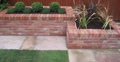 Image result for red brick planters