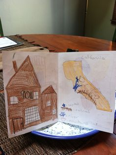 This is my house, drawn by my son, Jonah, when he was in 3rd grade. Can you tell that we live in the Bay Area?