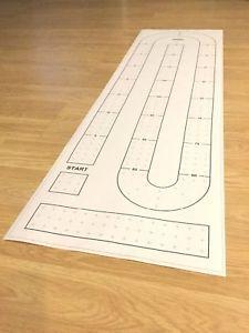 Details About Large Cribbage Board Hole Pattern Template 13