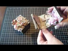 ♥♥ ► Matchbox with Mini Album - YouTube. Really loved how this worked out. Great place to use up coordinated scraps. 10/2/13. ღ