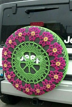 Crochet wheel cover