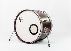 C&C Drums Europe - Vintage Drums - Player Date 2 - Walnut Satin - Bass Drum Dark Hoops www.candcdrumseurope.com