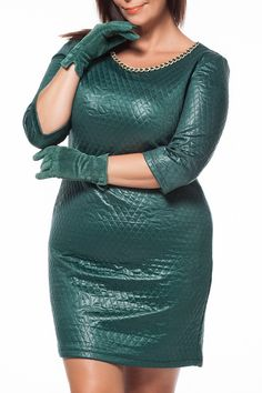APPLELINE Mariska Dress in Green - Beyond the Rack