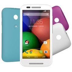"""Smartphone Moto E Dual Chip Branco Tela 4.3"""", 3G+WiFi, Android 4.4, Câmera 5MP, Memória 4GB, TV Digital - Motorola"""