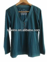 chinese style hemp cotton fancy v neck long sleeve shirts   Best Seller follow this link http://shopingayo.space