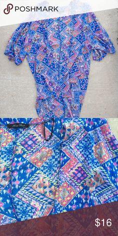 ✨Shop Hope's Kimono✨ Shop Hopes colorful long kimono! Worn only a few times! Lightweight with a ho-lo style! Tops