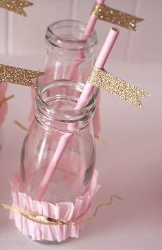 Elegant pinkalicious princess party ideas with pink ruffle ombre cake, crown & star wands, giant round tassel balloons, pink & gold cake pops, gold glitter wooden spoons & more. Pink And Gold Birthday Party, Golden Birthday, 6th Birthday Parties, Gold Party, Birthday Ideas, Princess Birthday, Princess Party, Girl Birthday, Royal Princess