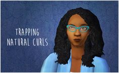 TS2 | trinitrotoluenka: Trapping's Natural Curls in Remi's colours AF hair #thesims2 #installed