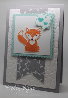 handmade greeting card ... Foxy Friends  with the fox speaking hearts ... by Kelly Kent at mypapercraftjourney.com ... Stampin' Up