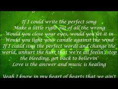 Music is Healing - Florida Georgia Line Lyrics Perfect Word, Florida Georgia Line, Love Never Fails, Country Music, Singers, It Hurts, Lyrics, Healing, Let It Be
