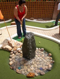 Backyard Mini Golf Water Feature and Trap (by Urban Crazy)