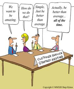 Customer service strategy meeting