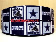 """Excited to share the latest addition to my #etsy shop: 1 Yard 7/8(22mm) """"Dallas Cowboys"""" Printed Ribbon"""