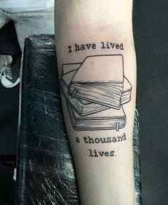 Book Tattoo Design by Nienna Felagund